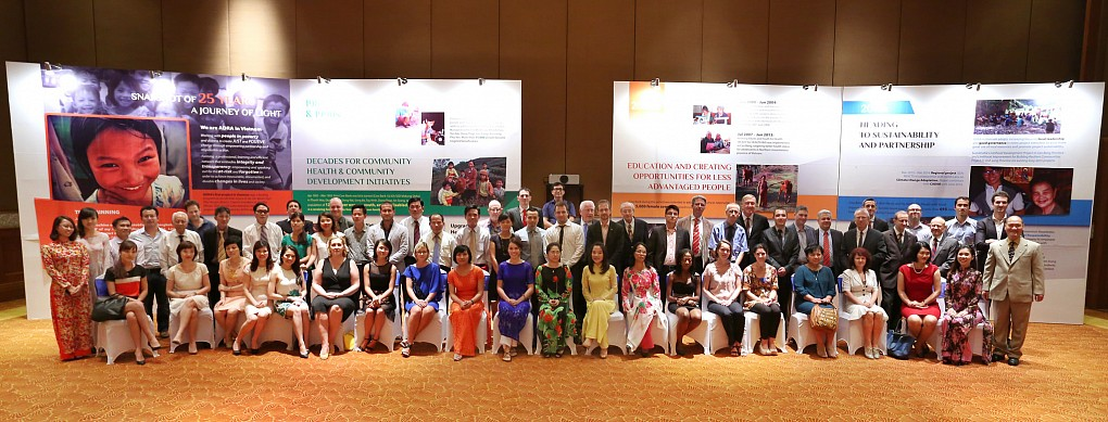 Guests and participants to the 25th Anniversary celebration of ADRA in Vietnam. [photo by ADRA Vietnam]