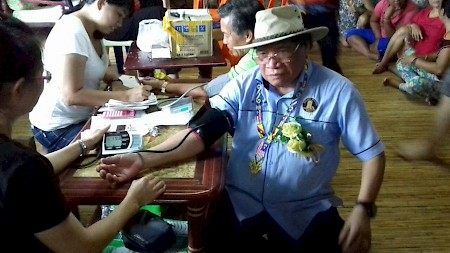 An elderly man treated by the medical team that visited the town of Lubok Antu in Sarawak, Malaysia from September 20-25.